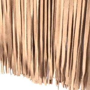 Neiman Marcus Skirts - CUSP Neiman Marcus Suede Fringe Skirt Leather NWOT